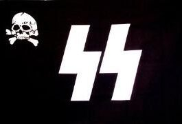 Nazi SS Skull Battle Flag