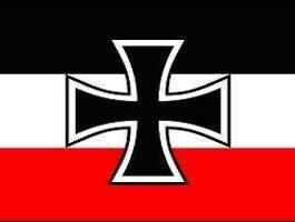German Iron Cross and Naval Jack Flag